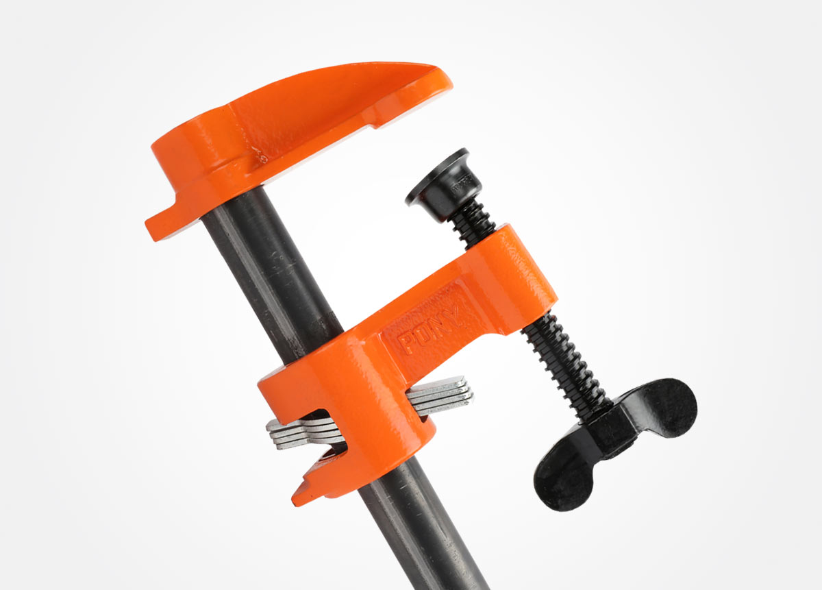pony deep-reach pipe clamp fixture. pony jorgensen pipe clamps