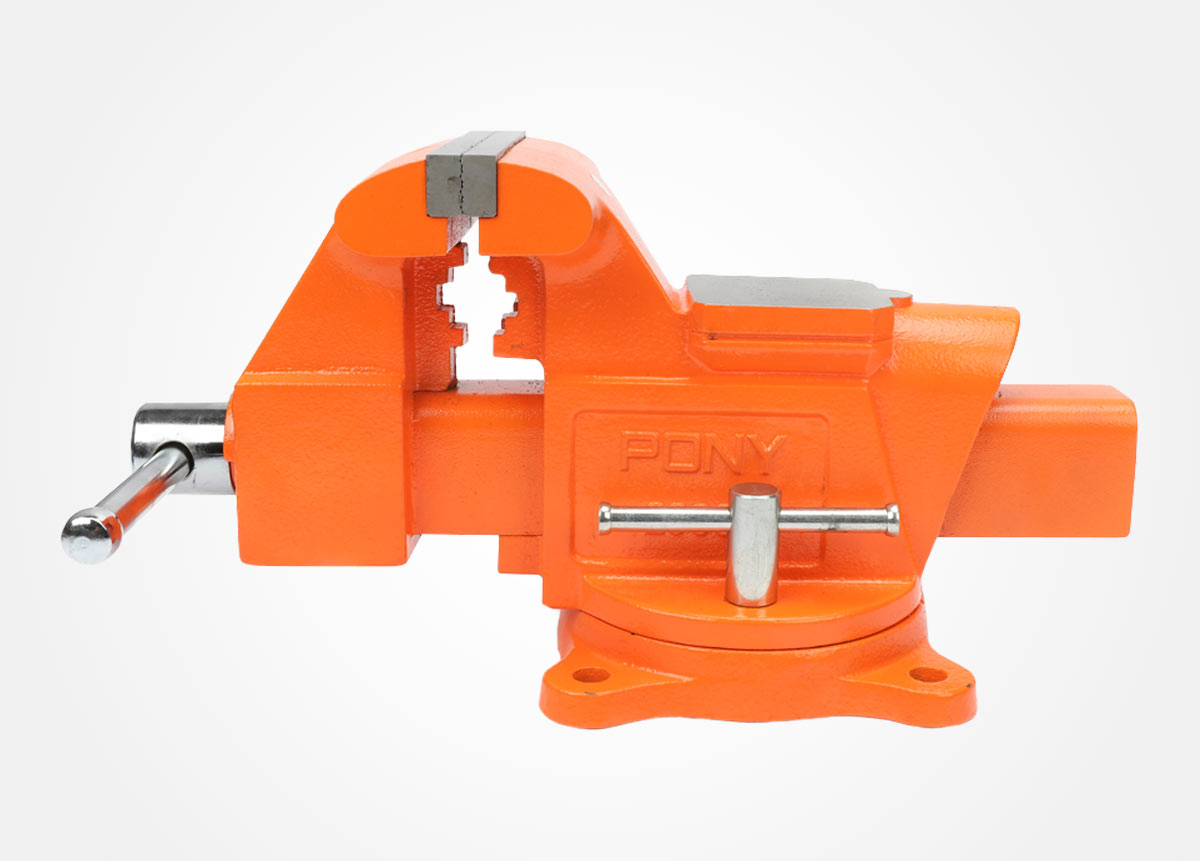 Heavy-duty workshop bench vise